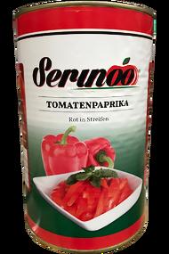 Tomatoespaprika in Streifen